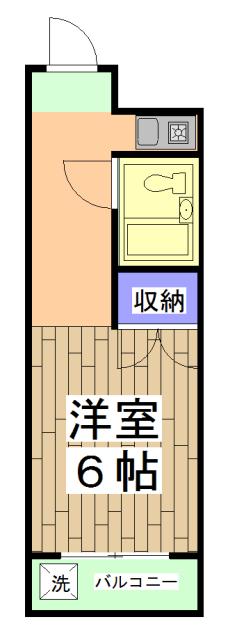 サニーハイツ西ノ京 2-A号室の間取り