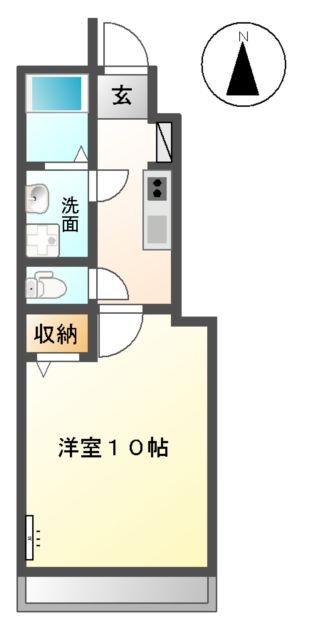 ベース新田南 00102号室の間取り