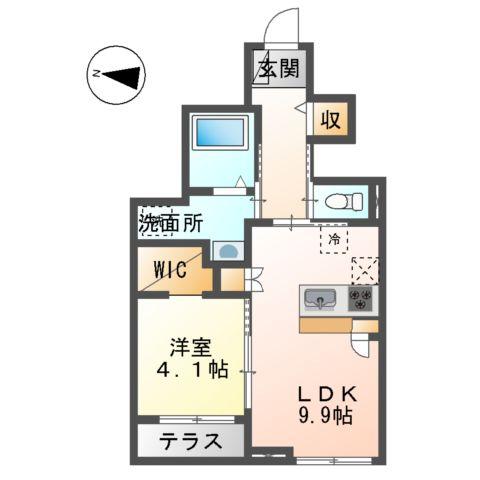 (仮)裾野市佐野アパート新築工事 102号室の間取り