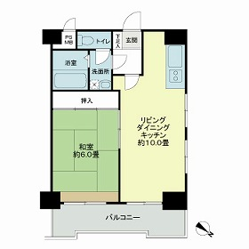 ライオンズマンション下目黒 601号室の間取り