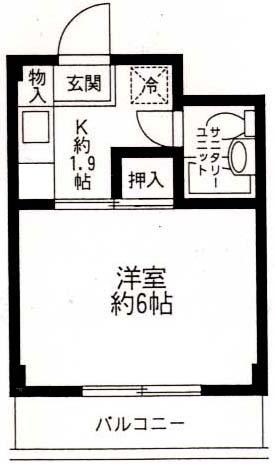 鎌伊ハイツ 2C8号室の間取り