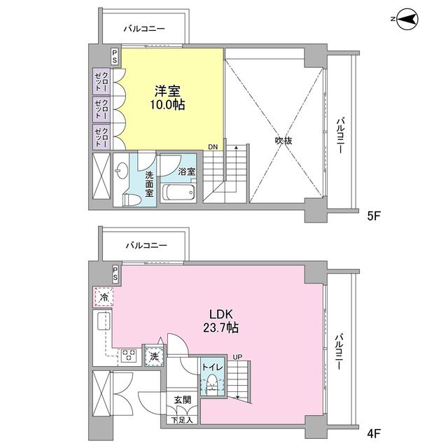 エルフレア駒沢 0405号室の間取り