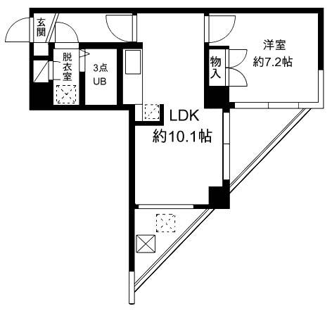FUKASAWA614マンション 505号室の間取り