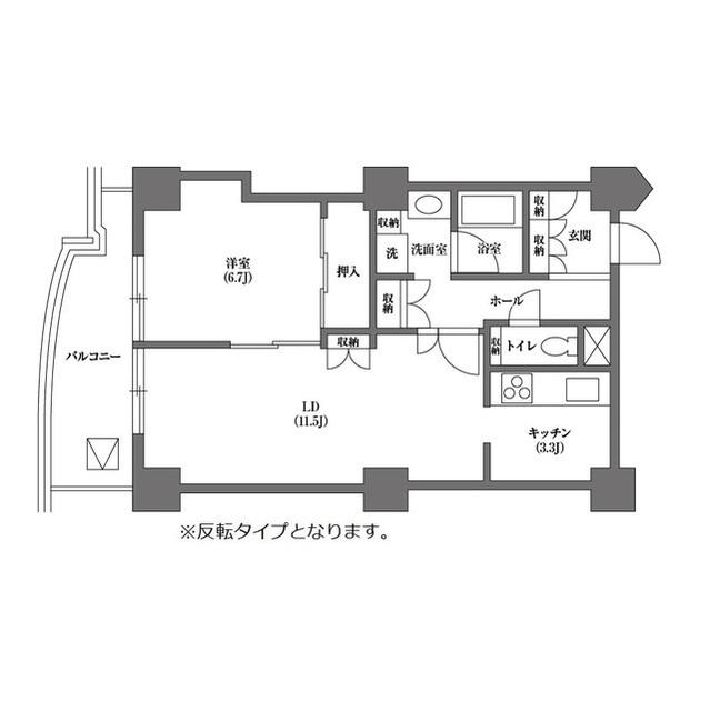 文京グリーンコートビュータワー本駒込 B1902号室の間取り