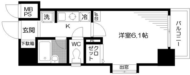 日神パレステージ三軒茶屋第2 1101号室の間取り