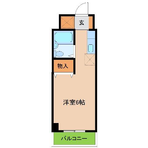 エステ-トピア黒沢 207号室の間取り