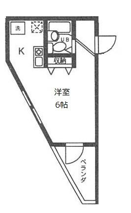 DJK花小金井マンション 203号室の間取り