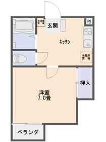 第一MHハウスA棟 208号室の間取り