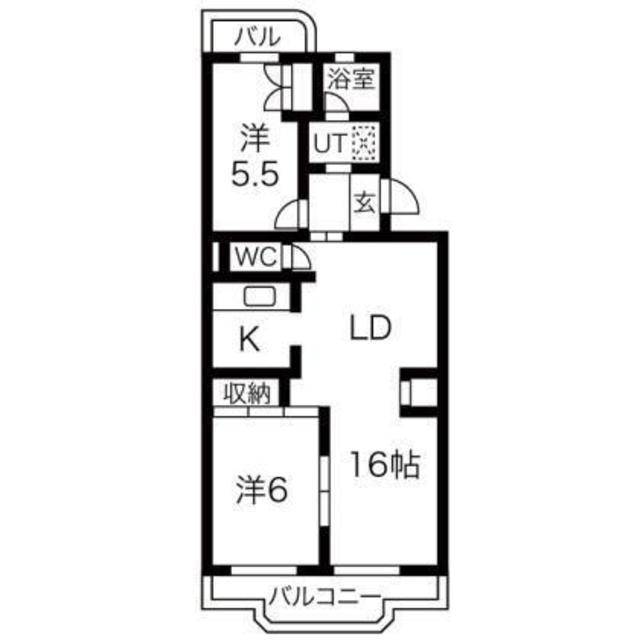 ローレルマンションMURATA 305号室の間取り