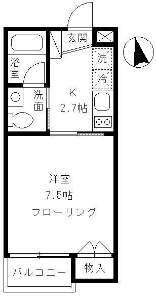 Alta Todoroki 202号室の間取り