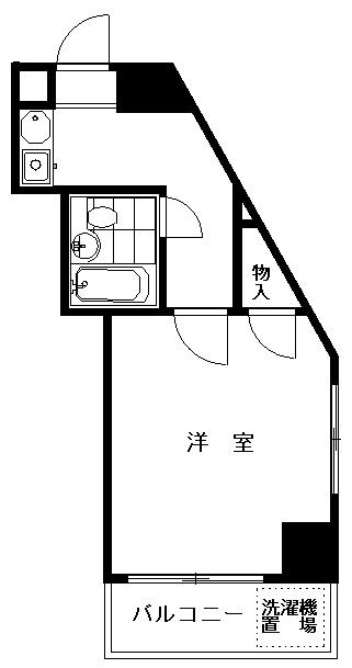 クレッセント武蔵小山 301号室の間取り