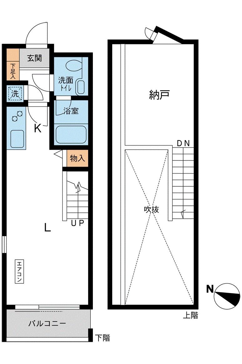 カッシア目黒 313号室の間取り