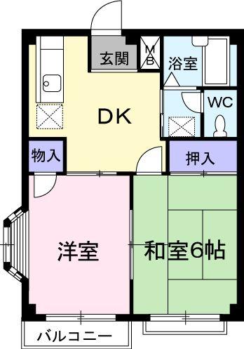 エルディムキムラⅡ 02030号室の間取り