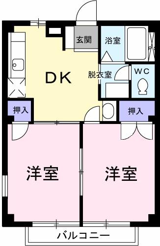 エルディム蓮田シティⅡ 01020号室の間取り