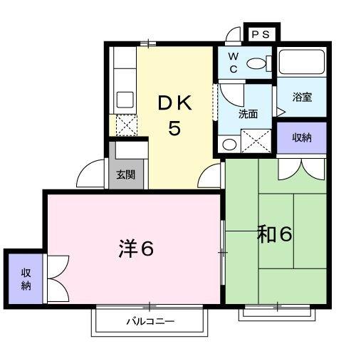 ファミーユハイツⅢ 02030号室の間取り
