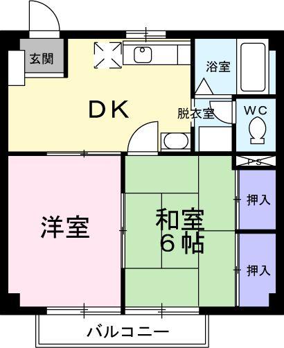 ニューシティー大沢Ⅱ 02030号室の間取り