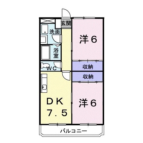 ローレルマンション 01020号室の間取り
