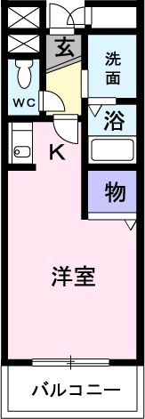 アベニュー埼大通り 02050号室の間取り