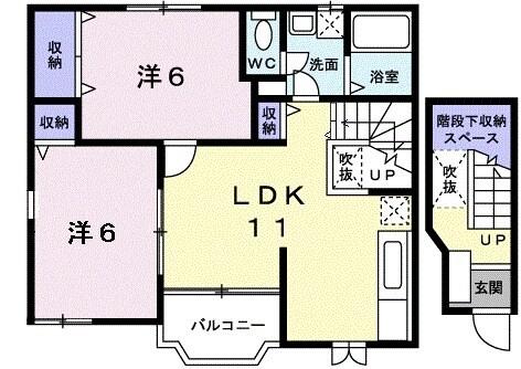 メゾン・ソレイユ A 02010号室の間取り