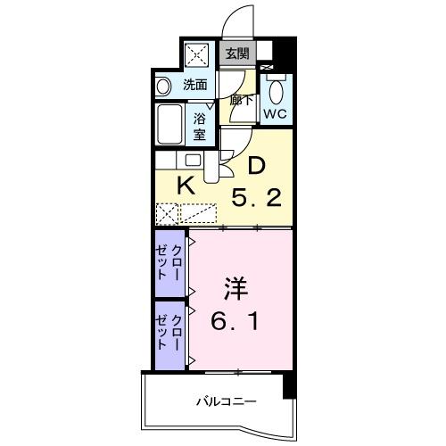 アベンシス・RC 04030号室の間取り