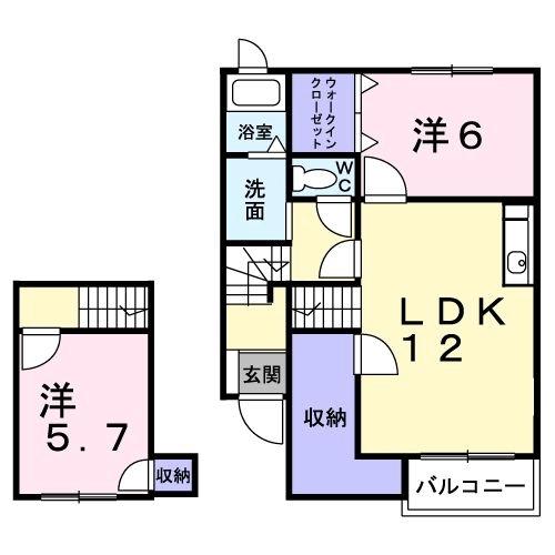 前原ドリームハウスⅢ 02010号室の間取り