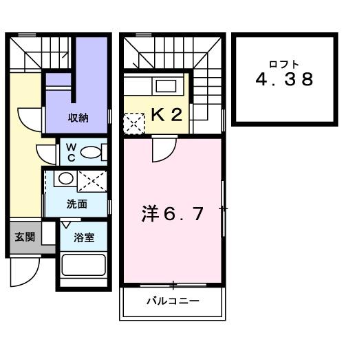 モンシャトー 01010号室の間取り