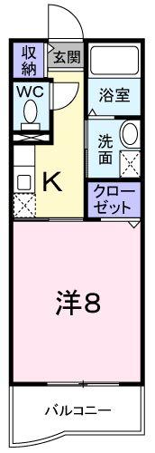 メゾン ソレイユ 01010号室の間取り