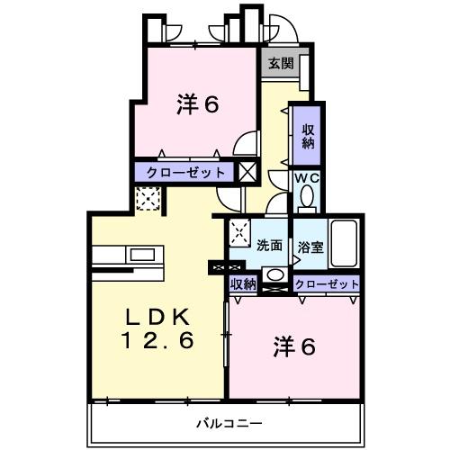 ドリ-ム KⅡ 01010号室の間取り
