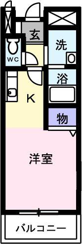 PURE CITY 梅田B 02030号室の間取り