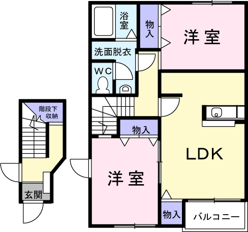 コンフォ-ル 02010号室の間取り