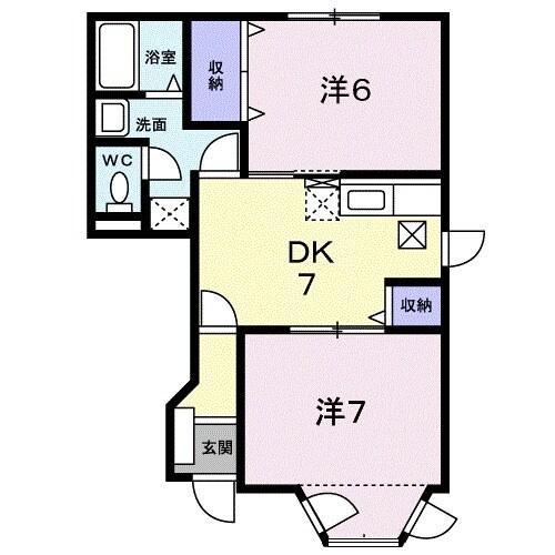 キャラバンサライ弐番館 01020号室の間取り