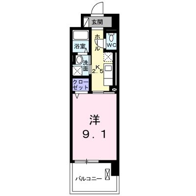 プレ・アビタシオン春日部Ⅱ 04040号室の間取り