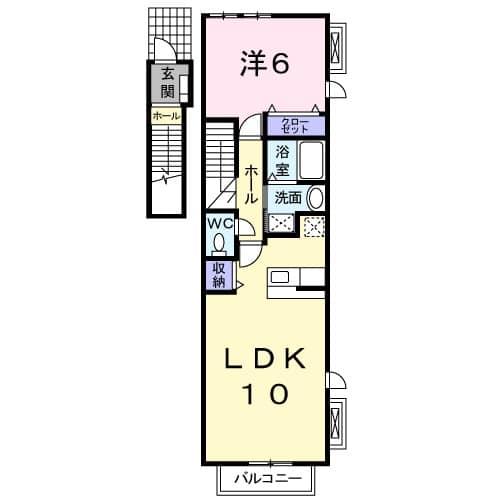 ガーデンハウスKT 02010号室の間取り