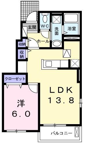 OrchardA 01010号室の間取り