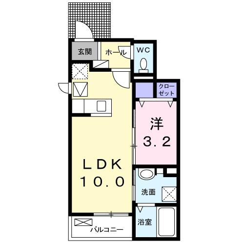 下宗岡2丁目アパート 01020号室の間取り