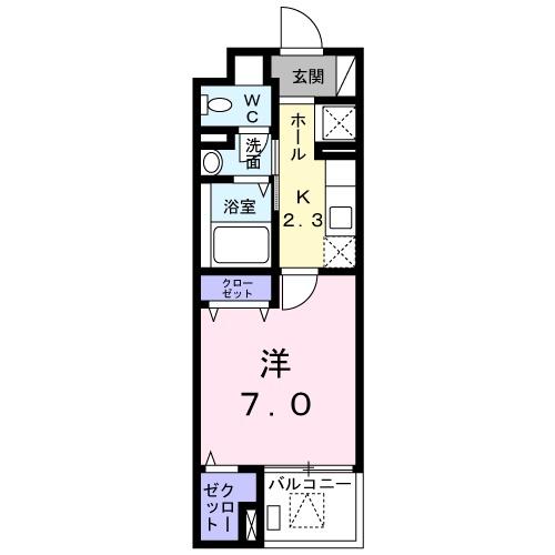 サニー・ブライト桜木 01020号室の間取り