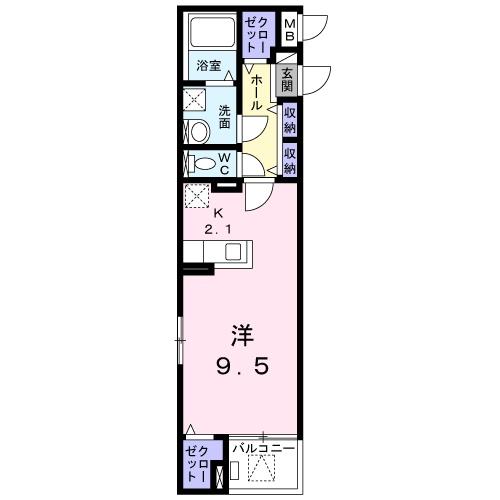 サニー・ブライト桜木 04040号室の間取り