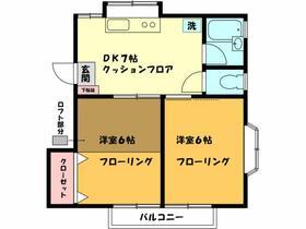 正司ハウス A202号室の間取り