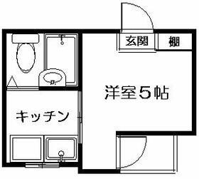 セントラルマンション笹塚 A502号室の間取り