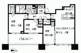 シティタワー武蔵小杉 5210号室の間取り