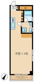 不動前アパートメント 2C号室の間取り