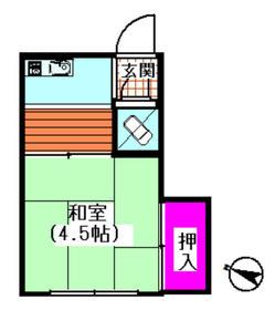 染谷荘 202号室の間取り
