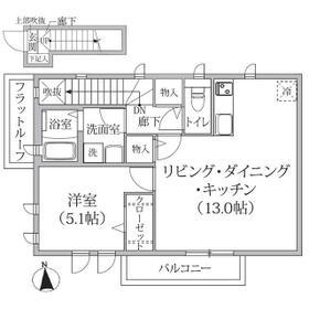 Arc奥沢A棟 0201号室の間取り