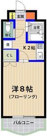 シャトレ21箱崎 305号室の間取り