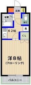 シャトレ21箱崎 403号室の間取り