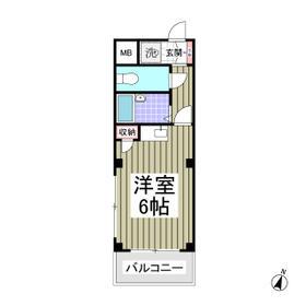 新都心プラザA 205号室の間取り