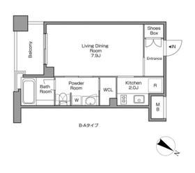 レジディアタワー中目黒 0305号室の間取り