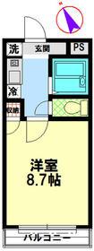 アルページュ花崎 205号室の間取り