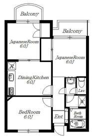 浦和グリーンマンション 303号室の間取り
