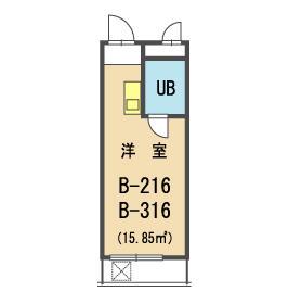メゾン・ド・カナリ 0316号室の間取り